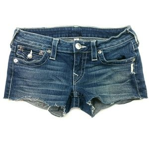 TRUE RELIGION jean low rise shorts 27
